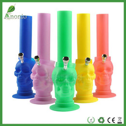 Wholesale Per Hookahs - 20pcs per lot Colorful Silicone Hookah Pipe Tobacco Portable Unbreakable Bongs Shisha Hookah Silicone Water Pipes Bongs