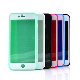 Wholesale Gel Sealing - Sealed Swimming Waterproof Cases Water Resistant Full Body Screen Protector Soft TPU Gel Front & Back Case For iPhone 5 6 6S 7 plus