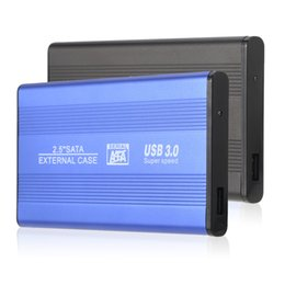 "hdd enclosure external hard drive case Coupons - Wholesale- Superspeed USB 3.0 HDD SSD SATA External Aluminum 2.5"" Hard Drive Disk Box Enclosure Case up to 1TB 2.5"" SATA external case"