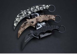 fox knives Coupons - FOX FA30 Karambit folding knife 440C blade camping survival tactical pocket knife hunting outdoor tools best gift Free shipping