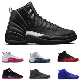 2017 entraîneur de chaussures de basket-ball rétro 2017 Air Retro 12 Chaussures de basket-ball pour homme The Master OVO French Blue Gym-Red Retros 12s Sneakers Athletic Trainers Chaussures de sport US 8-13 entraîneur de chaussures de basket-ball rétro ventes