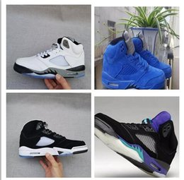 Wholesale White Sneakers Low Price - Classic retro 5 V women men Oreo basketball shoes sneakers 2015 red black wholesale price outdoor sports shoes sizes 5.5-13 Michael Sports