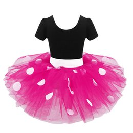 Wholesale Baby Pink Minnie Tutu Dress - Kids Baby Girls Minnie Mouse Tutu Dress with Ear Headband Carnival Party Fancy Costume Ballet Stage Performance Dancewear