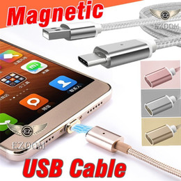 Wholesale Durable Iphone Charger - HOT Sale Magnetic Charger Adapter Micro USB Cable Durable Charging Sync Connector Data Cable For Android With Retail Box