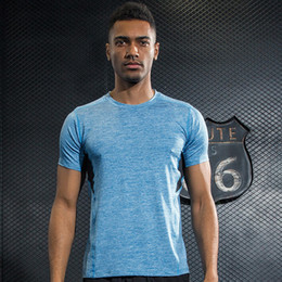 Wholesale Xxl Sweat Shirts - New Men Professional Yoga Shirt Fitness Running Sports T Shirt Gym Quick Dry Sweat Breathable Bodybuilding Gym Short Sleeve Tops