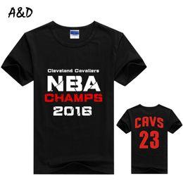 Wholesale Lebron T Shirts - Wholesale- Men T shirt Fashion Printing Sleeves T-shirts men LeBron James Summer Cotton Short-sleeve Tshirt Homme Tops Tees Plus Size S-5XL