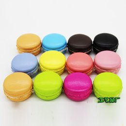 Wholesale Macaron Gift - 2 4sq 5CM French Simulation Squishy Macaron Squishies Dessert Slow Rising Rebound Toy Squeeze Phone Straps Pendants Cake Food Model Gifts CR