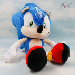 Wholesale Cups Video - Wholesale 27CM Cartoon Sonic The Hedgehog Plush Stuffed Toy Doll Blue Shadow Sonic Doll With Suction Cup 10PCS LOT