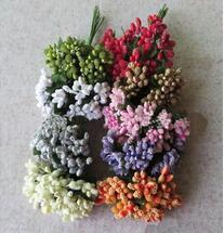 Wholesale Green Decorative Beads - 144pcs lot Artificial Flower glasses with beads flowers Wedding DIY home decorative flower Simulation flowers wholesale