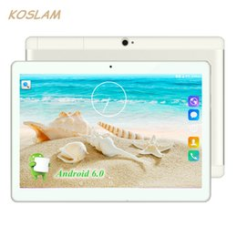 "Wholesale Novo 3g Bluetooth - 2017 novo android 6.0 tablets pc table pad 10 polegada 1280x800 ips quad núcleo 1 gb ram 16 gb of rome cartão dual sim 3g phone call 10 ""pha"