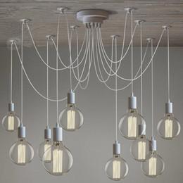 Livraison gratuite Mordern Nordic rétro Edison Ampoule Pendentif Lumière Vintage Loft Antique Réglable BRICOLAGE E27 Art Araignée Plafond Lampe Fixture Lumière ? partir de fabricateur