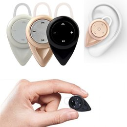 Wholesale Free Music Iphone - Black A9 Mini Wireless 360 Degree High-quality Stereo Music V4.0 Bluetooth Version Headset Hand-Free Earphone with Mic For iphone Samsung