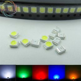 Wholesale Plcc Blue - Wholesale- 500pcs 3528 1210 PLCC-2 SMD SMT LED 100X Each color White Red Blue Green Yellow Emitting Diode High quality SMD Chip lamp beads