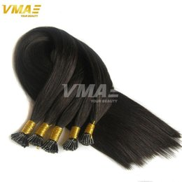 Wholesale I Tip Indian Virgin Hair - I Tip Prebonded Hair Extensions 100g Per Pack Brazilian Virgin Hair Natural Straight Keratin Stick Virgin Remy Hair I Stick I Tip Extensions