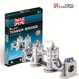 Wholesale Tower London 3d Puzzle - CubicFun 3D puzzle paper model Mini twin tower bridge in London (UK) no tools easy to assemble educational creat decoration toy