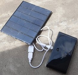 Wholesale Panels For Mobile Phones - Silicon Solar Charger Panels For iphone Mp3 Mobile Phone Power Bank Universal 3.5W 6V Monocrystalline Outdoor Travel Camping Cycling