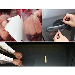 Wholesale Body Skin Glue - 10cm x 3M Rhino Skin Sticker Car Bumper Hood Paint Protection Film PVC Vinyl Clear Transparence Film Car Auto Decal
