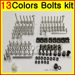 Wholesale Rs 15 - Fairing bolts full screw kit For Aprilia RS4 125 RS125 12 13 14 15 16 17 RS 125 2012 2013 2014 2015 Body Nuts screws nut bolt kit 13Colors