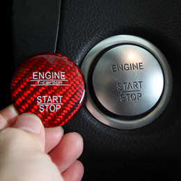 Wholesale engine starts - For Mercedes Benz C Class W205 GLC 2015-2017 Carbon Fiber Car Control Engine Start Stop Button Decorative Cover Trim