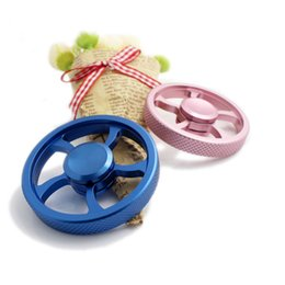 Wholesale Wheels For Toy Cars - Gifts for Kids Car Wheel Metal Fidget Spinners Alloy EDC For Autism and ADHD Anti Stress Focus keep Flywheel Toys New