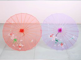Wholesale Vintage Silk Flowers Wholesale - Top-grade Handwork Popular Chinese style New arrival Wedding Party bamboo Umbrella Flower silk cloth vintage umbrella dance umbrella bamboo