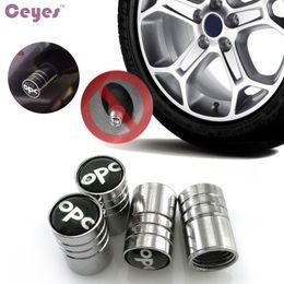 Wholesale Opc Drum Wholesale - Car Wheel Tire Valves Tyre Stem Air Caps Cover for OPC Opel drum kyocera Emblems Badge Car Tire Accessories Styling 4pcs lot