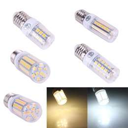 Wholesale 27 Smd - LED Corn Bulb 5050 27 30 48 59 69 SMD LED Light Bulb E14 E27 G9 360 degree High Power Home Lamp 220V Available Pure Warm White Light Bulb