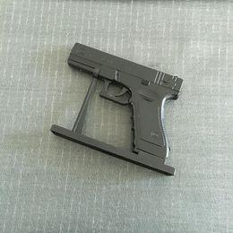Wholesale Gas Cigarette - Large Metal Pistol Gloucester 18 PKK DE Revolver Lighter Simulation Model Lighter 1: 1 Metal Revolver Type Gun Lighter