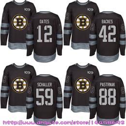 Wholesale Adam Oates - Custom Mens Womens Kids 2017-2018 New Logo Boston Bruins 12 Adam Oates 42 David Backes 59 Tim Schaller 88 David Pastrnak Hockey Jerseys
