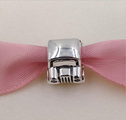 Wholesale Flag Cars - Authentic 925 Sterling Silver Beads Car Charm Fits European Pandora Style Jewelry Bracelets & Necklace 790405CZ