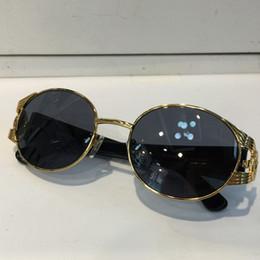 2019 lentes d VE 2134 Óculos De Sol De Luxo Sem Aro Redondo Frame Proteção UV Homens Marca Designer UV Lente de Proteção Steampunk Estilo Verão Comw Com o Caso lentes d barato