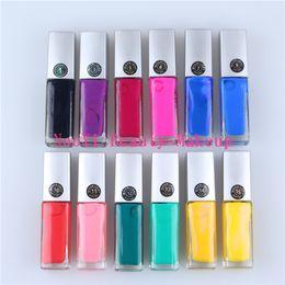 Tatuagens coloridas on-line-Atacado - Frete grátis 12pcs Colored Tattoo Gel / Glue / Gum para Body Art / Body pintura - 10ml / bottle para flash tattoo