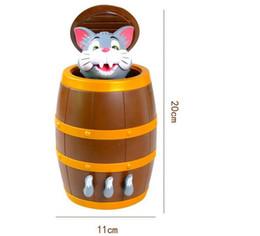 Jogo da sorte Brinquedo Do Gato Do Pirata Tom Cat barril Prático Piadas Brinquedos Tricky 50 pcs com caixa do pacote de Fornecedores de brinquedo do jogo barril pirata
