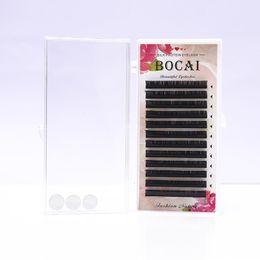 Wholesale Full Thickness - All thickness D Fake Eyelash mix length Natural soft Eye Lashes 12 row 3D False eyelash