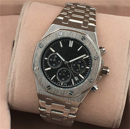 Wholesale Camel Time - All Subdials Work AAA Mens Watches Stainless Steel Quartz Wristwatches Stopwatch Luxury Watch Top Brand relogies for mens relojes Best Gift