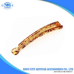Wholesale Plastic Bananas - Wholesale price korean style classic light tortoise banana hair clips for girl 12 PCS  1 bag