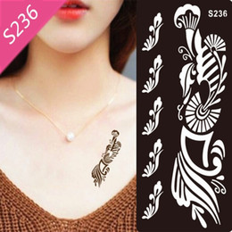 Wholesale Wholesale Henna Tattoo Stencils - Wholesale- 1pcs Mehndi Henna Tattoo Stencil Black Henna Tattoo for Body Paint Template Temporary Tatoo Stencils for Painting Kit