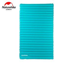 Wholesale Press Pads - Wholesale- Naturehike Manual Inflatable Mat Hand Press Inflating Air Mattress Dampproof Portable Sleeping Pad Camping Beach Picnic Mats
