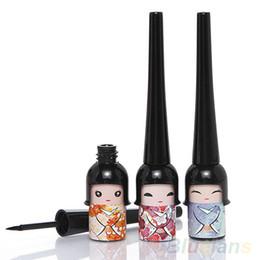 Wholesale Black Dolls Eyes - Black Waterproof Cute Doll Eyeliner Liquid Pen Makeup Cosmetic Eye Liner 4DYV 7GQV 8VQF