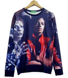 Wholesale Plus Size Rock Roll - Wholesale- New Arrive 2015 3D Rock Roll Winter sweatshirts Harajuku michael jackson Hip Hop casual male men hoodies plus size S-XXL