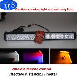 Wholesale Daytime Running Lights Remote - 12W Flash Warning Light Bar Trailer Marker Daytime Running Lights Police Fireman Caution pilot Lamp wireless remote control