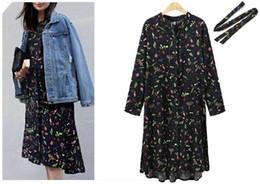 Wholesale Women Button Front Shirt - women casual midi dress front button down shirt dress floral print 2017 new arrival free size