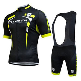Wholesale Kuota Cycle Jersey - Kuota pro summer Cycling Jersey bib shorts set Bicycle Breathable ciclismo sportwear clothes Bike Clothing Lycra MTB E0403