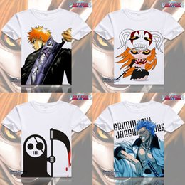 Wholesale Green Bleach - Anime Bleach Cosplay Printed Kurosaki ichigo Short Sleeve T-shirts Captain Tops Tees Ishida Uryuu Summer Tshirt
