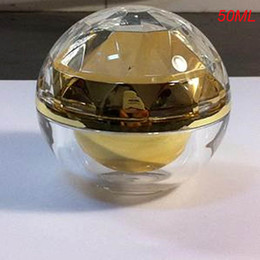 Wholesale Cosmetic Containers For Sale - Wholesale- 100pcs 50g gold acrylic ball shape cream bottle ,50g plastic cosmetic container for sale,acrylic cream jar 50g for Cosmetic