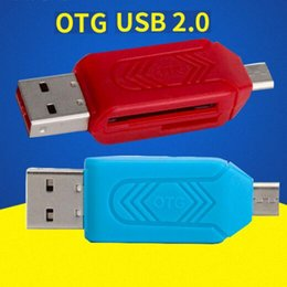Wholesale China 32gb Micro Sd - 2 in 1 USB Male To Micro USB Dual Slot OTG Adapter With TF SD Memory Card Reader 32GB 16GB For Android Smartphone Tablet Samsung