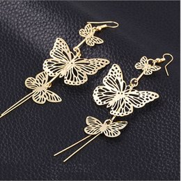 Wholesale Butterfly Clubs - earrings for girls gold designs girls price mother bride teen for women simple korea women jewelry wholesale Rock club teens Vara butterfly