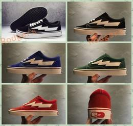 Wholesale Canvas Winter Tennis Shoes - Stylist Ian Connor Revenge x Storm Old Skool Black Red Casual Sport Running Shoes Canvas Sneakers 36-44
