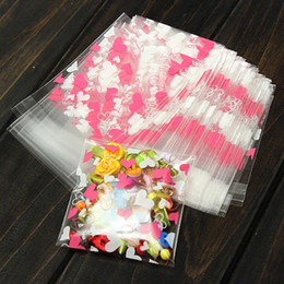 Wholesale Handmade Gift Bags - 100PCS LOT Cute Heart Transparent Cookies Package Bag Self-adhesive Birthday Christmas Food Handmade Baking Gift Packaging Bags