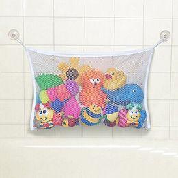 Wholesale Breast Dolls - Wholesale- Baby Toy Mesh Storage Bag Bath Bathtub Doll Organizer Suction Bathroom Stuff Net 766Q